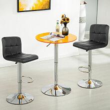 8*tabourets de bar chaise fauteuil 6 treillis noir