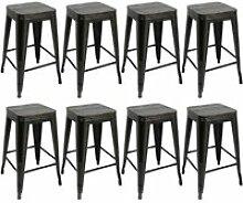 8 x chaises de bar hombuy design industriel