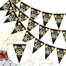 80 Ans Deco Anniversaire,80e Joyeux Anniversaire