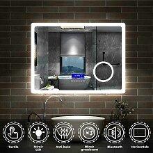 80cmx60cm + Bluetooth+horloge+2couleurs LED