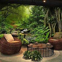 8D paysage forestier grande murale pastorale 3D