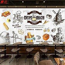 8D rétro nostalgique papier peint cuisson