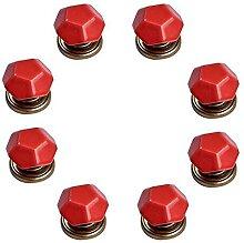 8PCS boutons / poignées / poignées en céramique