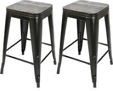 8x tabouret de bar industriel hombuy avec siège
