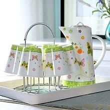 9, ensemble de théière et tasse en porcelaine