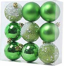 9 pièces décorations de boule de Noël