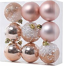 9 pièces ornements de boule de noël décorations