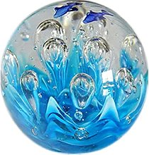 90mm cristal océan bulle boule boule de verre