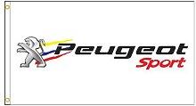 90x150cm Peugeot voiture Sport drapeau de course