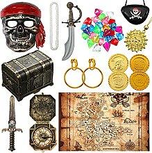 94 Pcs Accessoires de Costume de Pirates Inclure