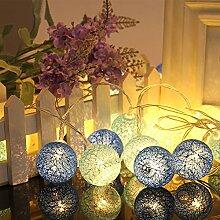 99AMZ Coffret Guirlande Lumineuse 20 Boules LED