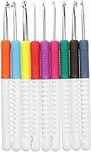 9Pcs Crochet Crochet Set, Aiguilles Ergonomiques
