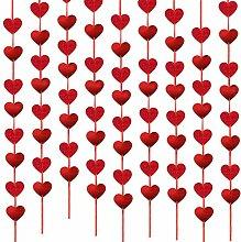 9PCS guirlande de coeur de saint-valentin