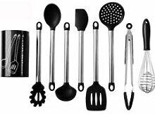 9Pcs Ustensiles De Cuisine En Silicone Spoonula