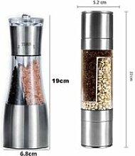 A-B -Moulin à poivre et à sel manuel 2 en 1,en