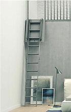 A. Echelle de meunier pliante pour mezzanine noire