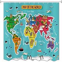 A.Monamour Carte du Monde Animal Zoo Thème École