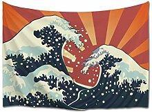 A.Monamour Tapisserie Murales Aquarelle Japonais