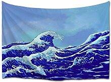 A.Monamour Tapisserie Murales Aquarelle Japonaise