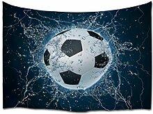 A.Monamour Tapisserie Murales Ballon De Football