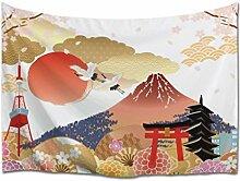 A.Monamour Tapisserie Murales Cherry Sakura Fuji