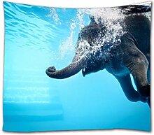A.Monamour Tapisserie Murales Drôle Éléphant