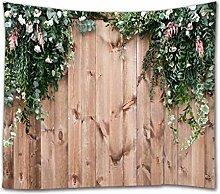 A.Monamour Tapisserie Murales Fleur Blanche Et