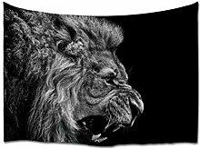A.Monamour Tapisserie Murales Lion en Colère