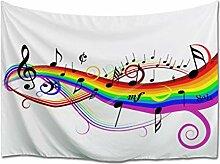 A.Monamour Tapisserie Murales Notes De Musique sur