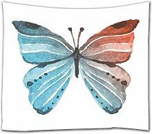 A.Monamour Tapisserie Murales Papillon Aquarelle