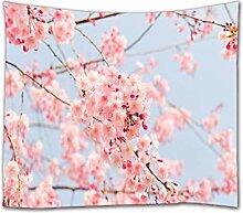 A.Monamour Tapisserie Murales Rose Fleurs De