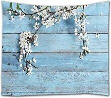 A.Monamour Tapisseries Fleurs Blanches sur des