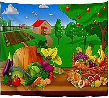 A.Monamour Tapisseries Fruits Et Légumes sur