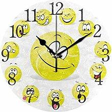 AABAO Balle de Tennis Ronde Horloge Murale,