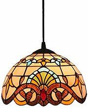 AAZX Plafonnier style Tiffany en vitrail avec