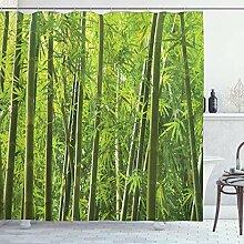 ABAKUHAUS Bambou Rideau de Douche, Exotique Bambou