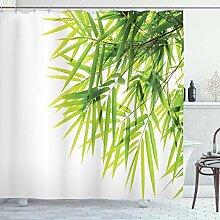 ABAKUHAUS Bambou Rideau de Douche, Feuille de