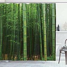 ABAKUHAUS Bambou Rideau de Douche, Forêt Arbre