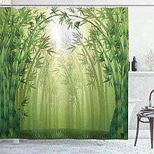 ABAKUHAUS Bambou Rideau de Douche, Les Arbres en