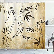 ABAKUHAUS Bambou Rideau de Douche, Les Feuilles de