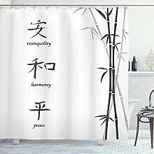ABAKUHAUS Bambou Rideau de Douche, Peace Bamboo,
