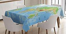 ABAKUHAUS Carte du Monde Nappe, Carte