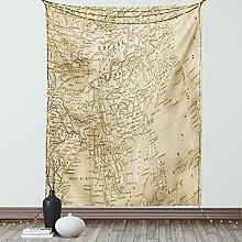 ABAKUHAUS Carte du Monde Tapisserie, Art