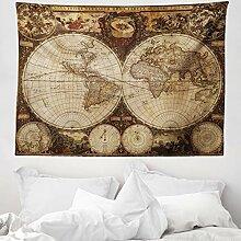 ABAKUHAUS Carte du Monde Tapisserie, Atlas