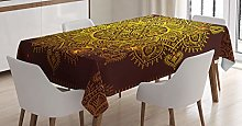 ABAKUHAUS Mandala Nappe, Art Oriental Flocon de