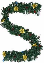 Abaodam 1 guirlande de Noël en PVC pour cheminée