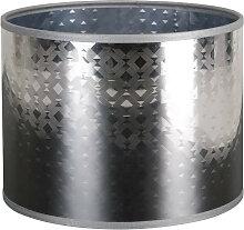 Abat-jour argenté cylindrique