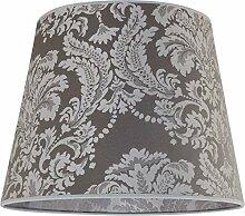 abat-jour argenté grand avec motif baroque Ø38cm