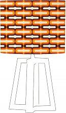 Abat-jour beige imprimé orange d 60 cm