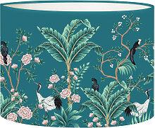 Abat-jour bleu canard d 25 cm